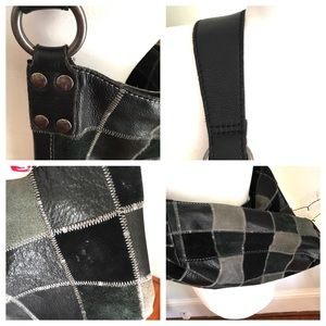 Lucky Brand Bags - Lucky Brand Leather Suede Patchwork Hobo Boho Bag
